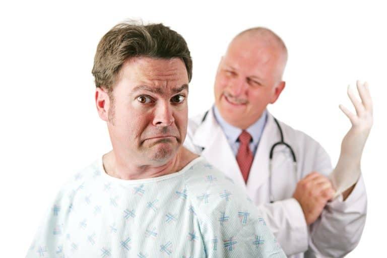 Badania urologiczne. Badanie per rectum.