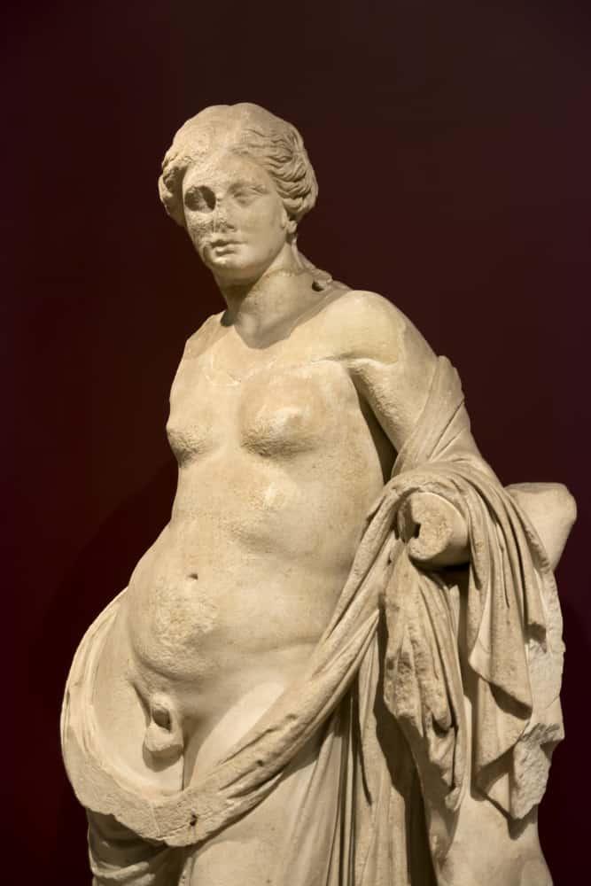 """Starożytni wyznawali zasadę, która zwerbalizowana została w renesansie """"nic co ludzkie nie jest nam obce"""". Antyk znał zjawisko """"trzeciej płci"""" i akceptował ja traktując jako zjawisko naturalne. Grecy stworzyli nawet wokól tego zjawiska mit: otóz Hermafrodyta Hermafrodyta w mitologii greckiej to syn Hermesa i Afrodyty, na prośby wzgardzonej przez niego nimfy Salmakis złączony z nią w jedno ciało, z czego powstała istota podwójna, pół mężczyzna, pół kobieta."""